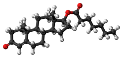 Testosterone enanthate molecule ball.png