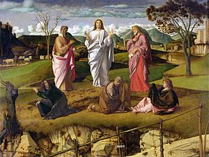 Transfiguration of Christ (Bellini) - Image: The Transfiguration 1480 xx Giovanni Bellini