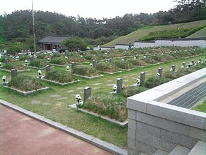 May 18th National Cemetery - The 3rd boundaries of a grave