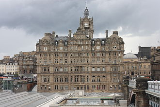 William Hamilton Beattie - The Balmoral Hotel as seen from the south