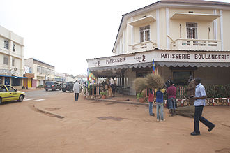 Cuisine of the Central African Republic - A French cuisine boulangerie in Bangui