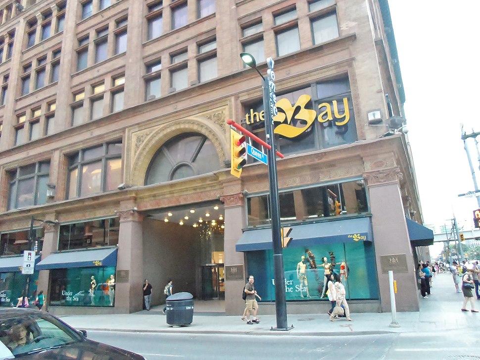 The Bay Queen Street facade 2012