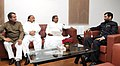 The Chief Minister of Karnataka, Shri Siddaramaiah meeting the Union Minister for Consumer Affairs, Food and Public Distribution, Shri Ram Vilas Paswan, in New Delhi on November 21, 2014.jpg