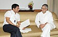 The Chief Minister of Meghalaya, Shri Mukul Sangma meeting the Union Minister for Road Transport and Highways, Dr. C.P. Joshi, in New Delhi on July 24, 2012.jpg