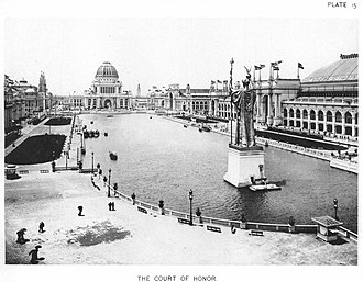 Statue of The Republic - Image: The Court Of Honor — Official Views Of The World's Columbian Exposition — 15