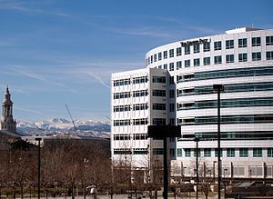 English: Denver Post building in Denver, Colorado.