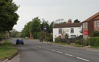 A158 road - The A158 in Hagworthingham