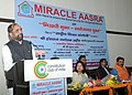 The Minister of State for Home Affairs, Shri Hansraj Gangaram Ahir addressing at a function of NGO Miracle Aasra, in New Delhi on February 16, 2017.jpg