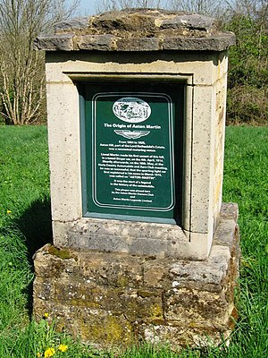 Singer Motors - Plaque describing Singer's part in the origin of Aston-Martin