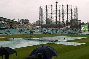 Duckworth–Lewis method - A rain delay at The Oval, England