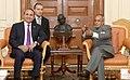 The President of the National Assembly of the Republic of Armenia, Mr. Hovik Abrahamyan calling on the President, Shri Pranab Mukherjee, at Rashtrapati Bhavan, in New Delhi on December 05, 2013.jpg
