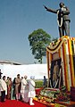 The Prime Minister, Dr. Manmohan Singh paying homage to Baba Saheb, Dr. B. R. Ambedkar, on the occasion of his 117th Birth Anniversary, in New Delhi on April 14, 2008.jpg