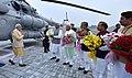 The Prime Minister, Shri Narendra Modi arrives in Gurugram for Haryana Swarna Jayanti Celebrations, in Haryana.jpg