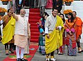 The Prime Minister, Shri Narendra Modi at the lunch hosted by the King of Bhutan, His Majesty Jigme Khesar Namgyel Wangchuck, in Thimphu, Bhutan on June 16, 2014.jpg