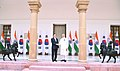 The Prime Minister, Shri Narendra Modi meeting the President of the Republic of South Korea, Mr. Moon Jae-in, at Hyderabad House, in New Delhi on July 10, 2018 (2).JPG