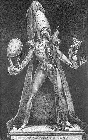 «Северный колосс». Французская карикатура на Николая I и Крымскую войну