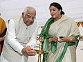 The Speaker, Lok Sabha, Shri Somnath Chatterjee lighting the lamp to inaugurate an exhibition on food and nutritional awareness, in New Delhi on March 08, 2008.jpg