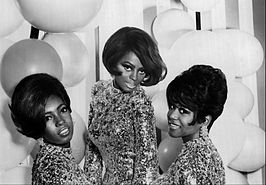 The Supremes in 1967. Mary Wilson, Diana Ross en Cindy Birdsong.