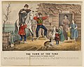 The Turn of the Tune. Traveller Playing the Arkansas Traveller. Currier and Ives, 1870.jpg