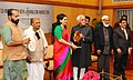 The Vice President, Shri M. Hamid Ansari giving away the C.H. Mohammed Koya National Journalism Award 2016 to the Consulting Editor, The Times of India, Ms. Sagarika Ghosh, in New Delhi on January 20, 2017.jpg