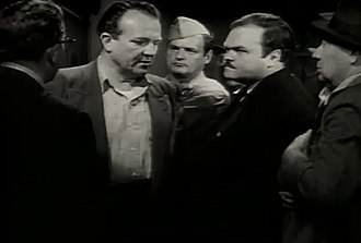 Bruno VeSota - Bruno VeSota (second from right) with Hugh Sanders (second from left) in a screenshot from the trailer of The Wild One