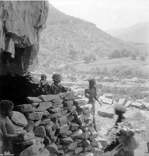 Al-Akhdam - The caves of Al-Akhdam in Sanaa in 1942