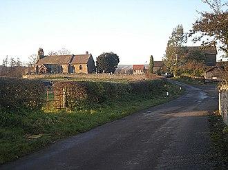 Halford, Shropshire - Image: The church at Halford geograph.org.uk 1073076