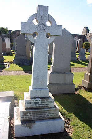 Robert Hope Moncrieff Aitken - The grave of Col Robert H M Aitken, Eastern Cemetery, St Andrews