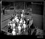 The launch of HMAS ALBATROSS I at Cockatoo Island Dockyard (8553655150).jpg