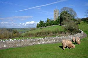 John Langhorne (poet) - Langhorne's hilltop church in Blagdon