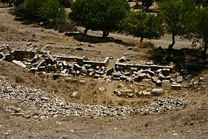 Teos - Ruins of the theatre in Teos