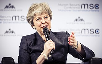 Premiership of Theresa May - May at the 2018 Munich Security Conference