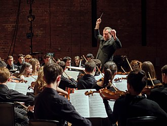 Thomas Adès - Thomas Adès conducting the National Youth Orchestra of Great Britain at Snape Maltings Concert Hall in 2017