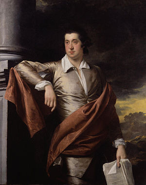 Portrait of Thomas Day leaning on a pillar