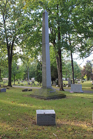 Thomas M. Cooley - Cooley grave in front of Cooley family obelisk