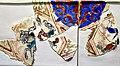 Tiles showing animals. Glazed, Mina'i technique. Anatolian Seljuk period, 2nd half of the 12th century CE. From the kiosk of Kilij Arslan II at Konya. Museum of Islamic Art (Tiled Kiosk), Istanbul.jpg