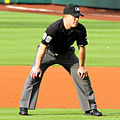 Toby Basner umpire in April 2014.jpg