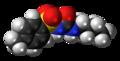 Tolbutamide molecule spacefill.png