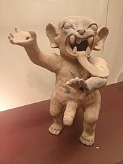 Fertility figure in the form of a jaguar standing on two legs