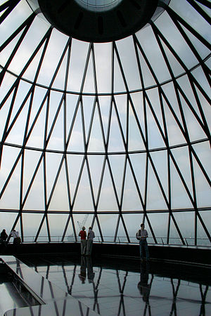 Open House London - Visitors to 30 St Mary Axe, widely known also as the Gherkin, one of the weekend's most popular venues.