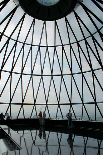 """Open House London - Visitors to 30 St Mary Axe, also known as """"the Gherkin"""", one of the weekend's most popular venues"""