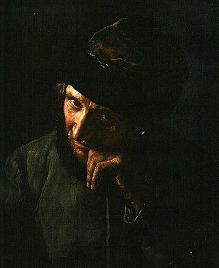 Ямщик, опирающийся на кнутовище. 1820-е