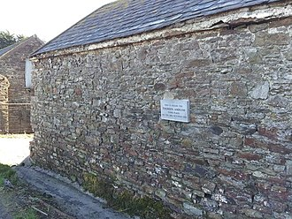 Tooreen ambush - Location - farm wall 2014