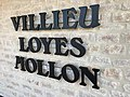 Town hall of Villieu-Loyes-Mollon - inscription.JPG