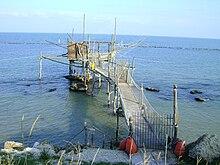 Un trabocco nella Costa dei Trabocchi, sito tra Fossacesia e San Vito Chietino
