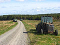 Tractor and MOD vehicles, Spadeadam Forest - geograph.org.uk - 827497.jpg