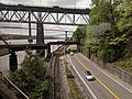 Train and vehicle bridges crossing Fraser River.jpg