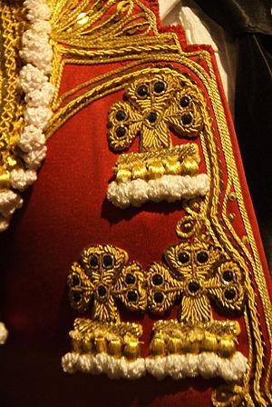 Traje de luces - Detail of  la chaquetilla.