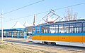 Tram in Sofia in front of Central Railway Station 2012 PD 046.jpg