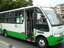 Bus del Transporte Metropolitano Valparaíso.
